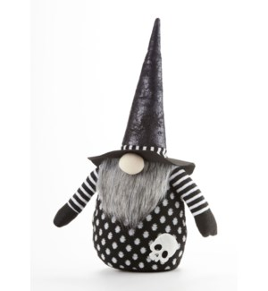 Black Witch Gnome Stump
