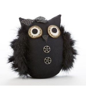 Black Feather Wing Hoot Owl