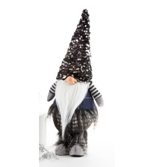 Black Sequin Hat Warlock Gnome
