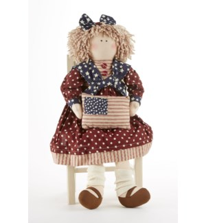 Americana Doll w/ Flag Pillow