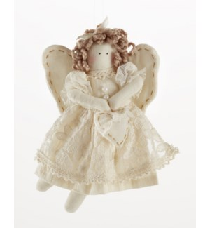 Beige Lace Angel Ornament