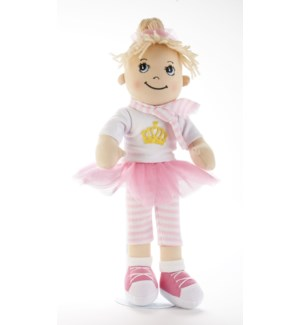 Apple Dumplin Doll, Pink Crown