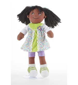 Apple Dumplin Black Doll, Green Patch
