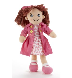 Apple Dumplin Doll, Pink Heart