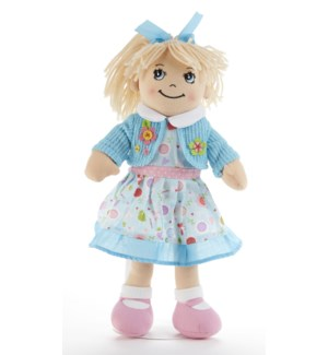 Apple Dumplin Doll, Blue Floral