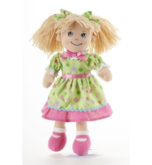 Apple Dumplin Doll, Green Flower