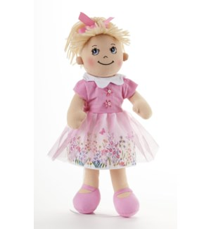 Apple Dumplin Doll, Pink Garden