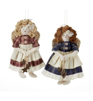 Angel Doll Ornament, 2 Asst