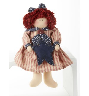 Americana Doll w/ Star, Red Stripe