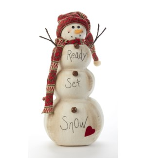 """Ready- Set-Snow"" Knit Snowman"