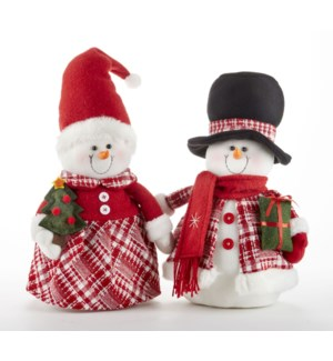 Berry Snowman Stump, 2 Asst