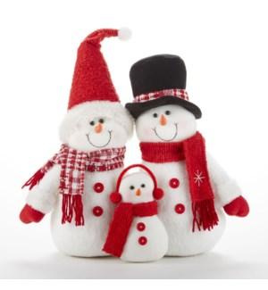 Berry Snowman Family