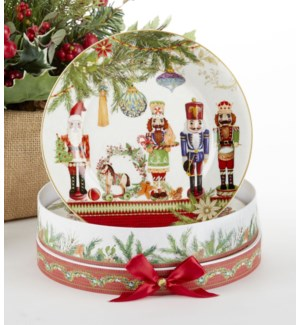 "8"" Porcelain 2-Plate Set, Nutcracker"