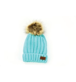 AQUA BITTIES POM HAT 4PC