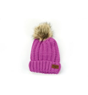 BERRY BITTIES POM HAT 4PC