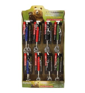 BEAR CLAW KEYCHAIN 24PC DIS
