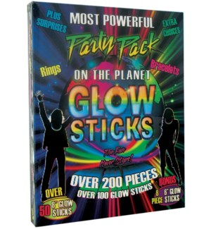 200 PLUS GLOW STICKS 6PC