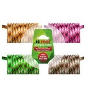 10ft Charging cable for Iphone 5/6/7/8/10/X - CAMO