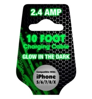 10ft Cable Glow in the Dark - for iPhone