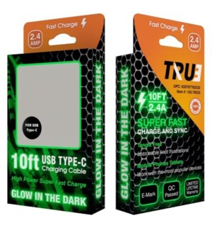 10ft Boxed Glow Cables for Type-C