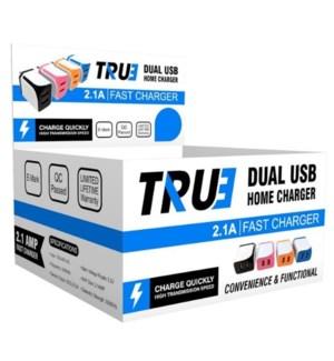 2.4Amp Dual Home Charger PDQ Box 15pcs Per