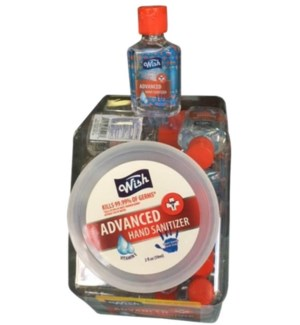 2oz Hand Sanitizer Gel w/Flip Cap, 36pc Fishbowl
