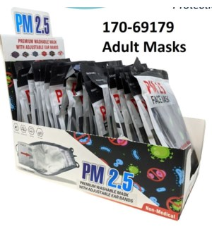 24pc Display of Adult Masks
