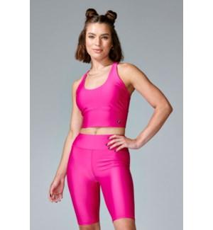 Basic Criss Cross Bra - Hot Pink - S