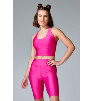 Basic Criss Cross Bra - Hot Pink - XS