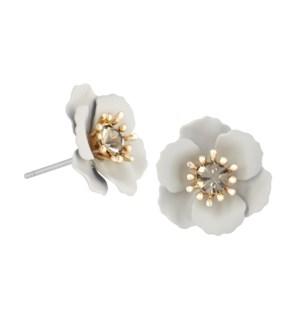 Coco + Carmen Abella Stud Earrings - Gray