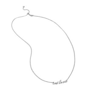 Coco + Carmen C+C Word Necklace Cest La Vie