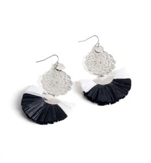 Coco + Carmen Amity Filigree Earrings Black and White
