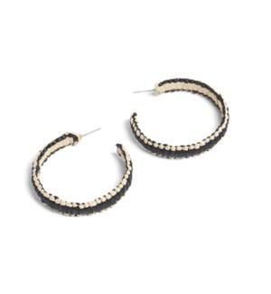 Coco + Carmen Brielle Paper Hoop Earrings Black