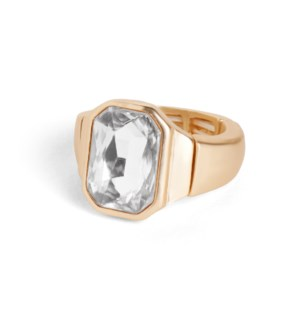 Coco + Carmen Bling Pop Stretch Rings Gold and Clear