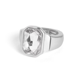 Coco + Carmen Bling Pop Stretch Rings Silver and Clear