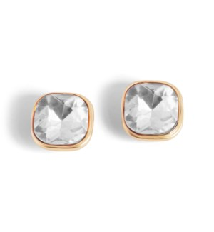 Coco + Carmen Bling Pop Earrings Gold and Clear