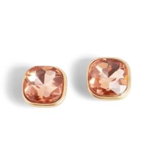 Coco + Carmen Bling Pop Earrings Peach