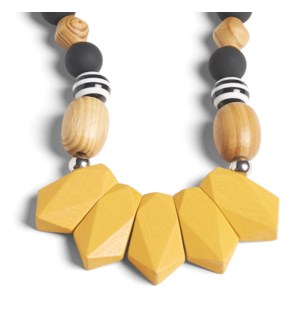 Coco + Carmen 5 Golden Drop Necklace Mustard