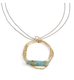 Coco + Carmen Balance Your Sprit Necklace Gold