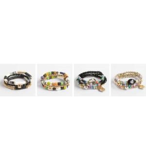 Coco + Carmen Bundled Heishi Bead Bracelet Assortment Pack - Pack