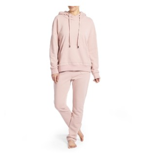 Coco + Carmen Boyfriend Hoodie - Dusty Pink - XXL