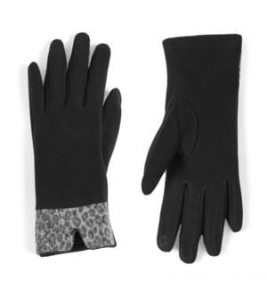Coco + Carmen Animal Cuff Texting Gloves - Black - One Size