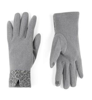 Coco + Carmen Animal Cuff Texting Gloves - Grey - One Size