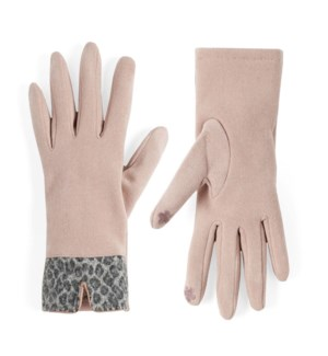 Coco + Carmen Animal Cuff Texting Gloves - Pink - One Size
