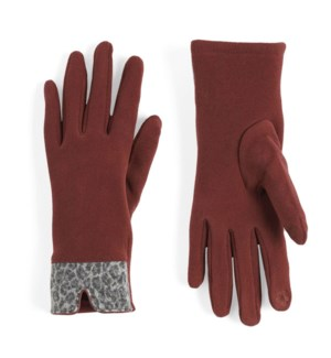 Coco + Carmen Animal Cuff Texting Gloves - Red - One Size