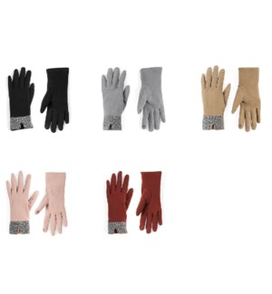 Coco + Carmen Animal Cuff Texting Gloves Assortment Pack - Mixed - One Size