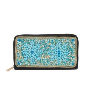 Coco + Carmen Artisian Beaded Wallet - Duo Snowflake