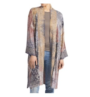 Coco + Carmen Atzi Cardigan - Mustard and Grey and Rust - One Size
