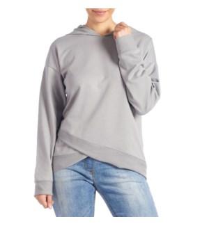 Coco + Carmen Athena Hooded Sweatshirt - Grey - S/M