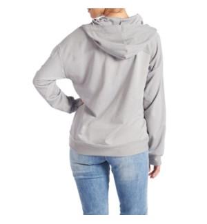 Coco + Carmen Athena Hooded Sweatshirt - Grey - L/XL